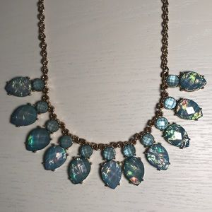 Jewelry - Light blue and gold statement necklace
